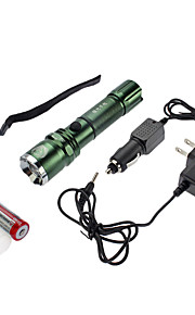 Lanternas LED / Lanternas e Luzes de Tenda (Foco Ajustável / Prova-de-Água / Recarregável) - LED 4.0 Modo 350 Lumens Cree XR-E Q5 - para