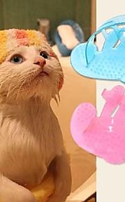 Gato / Perro de Aseo Cardas / Baños Mascotas Útiles de Aseo Masaje Rosa Goma