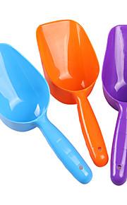 Pá comida de plástico para animais de estimação (cor aleatória)