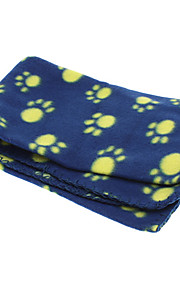 Cute Paws Pattern Blanket Soft Fleece Blanket Mat for Pets Dogs (Random Color)