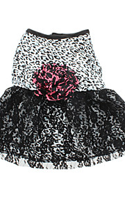 Dog Dress Black Summer Leopard