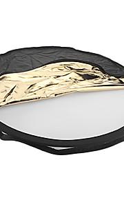 80cm 5-i-1 Sammenklappelig Round Flash Reflektor Board Panel VFS-145.538 til kamera