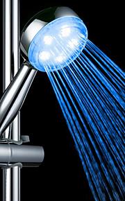 Vann Flow Power Generation Blue Light LED ABS hånddusj
