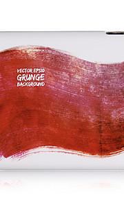 Czerwone malowanie Plastic Case Powrót do iPada 2/3/4
