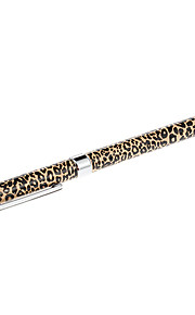 Leopard Print Pattern Deluxe High-Sensitive Clip Stylus Pen Sync Ballpoint Pen for iPad and Others