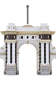Portão da Universidade de Tsinghua Building Block Brinquedos Educativos