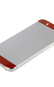 Silver Hard Metal Alloy Tillbaka Batterihus med Orange Glas för iPhone 5s