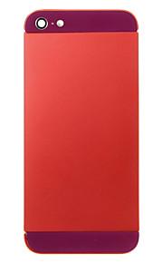 Red Liga de Metal Voltar Bateria Caixa com vidro escuro roxo para iPhone 5
