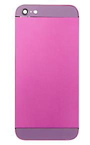 Fuchsia Liga de Metal Voltar Bateria Caixa com vidro roxo para iPhone 5
