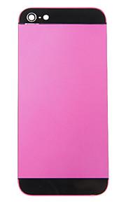 Fuchsia Liga de Metal Voltar Bateria Caixa com vidro preto para iPhone 5