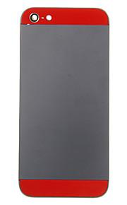 Black Metal Alloy Voltar Bateria Caixa com copo vermelho para iPhone 5