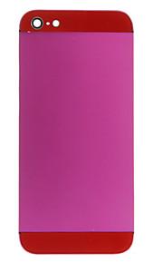 Fuchsia Liga de Metal Voltar Bateria Caixa com copo vermelho para iPhone 5