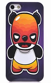 아이폰 5/5S를위한 만화 폭력 곰 Pttern 뒤 케이스