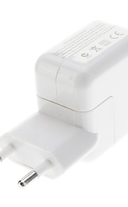 EU Type USB Power Adapter for iPad/iPhone (White)