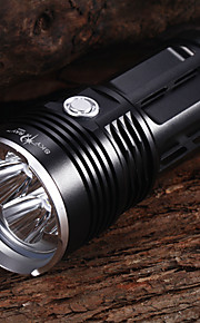 Luzes de Bicicleta Luzes de Bicicleta / Frente Bike Light Prova-de-Água 4000 Lumens Bateria Cree XM-L2 T6 Preto