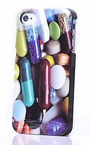 아이폰 4/4S를위한 다채로운 환 약 본 뒤 케이스