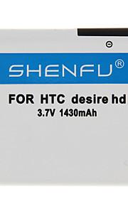 Shenfu 1430mAh Matkapuhelin akku HTC Desire Z / Desire S / uskomaton