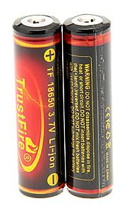 TrustFire 3000mAh 18650 (2 peças) com proteção de sobrecarga