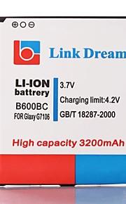 Link Dream High Quality 3.7V 3200mAh mobiele telefoon batterij voor Samsung Galaxy Grote 2 G7106 (B600BC)