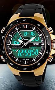 Masculino Relógio de Pulso Quartzo Japonês LCD / Calendário / Cronógrafo / Impermeável / Dois Fusos Horários / alarme Plastic Banda Preta
