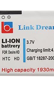 Enlace Dream High Quality 3.7V 1930mAh de la batería del teléfono celular para HTC Inspire 4G (Desire HD)