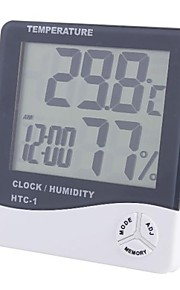 "3.9"" LCD Digital Temperature Humidity Meter with Alarm Clock"