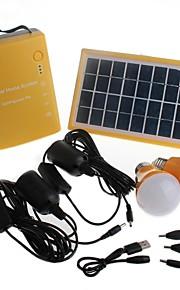 1-Mode Zweihnder D007 Multifuncional recarregável 5xSMD LED para iluminação exterior ou interior (110lm, 1xPower Bank, amarelo)