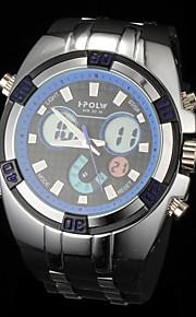 Moda Multi-Funcional Analog-Digital Rubber Band relógio de pulso dos homens (cores sortidas)