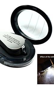 40x i metal med høj opløsning forstørrelsesglas lup mikroskop med LED currengy afsløre