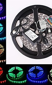 ZDM ™ vanntett 5m 300x5050 smd RGB LED stripe fleksibel lys + rgb 44key fjernkontroll (AC100-240V)