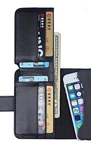 natusun ™ litchi mønster hele kroppen tilfelle med lommeboken for iPhone 3GS / 4 / 4S / 5 / 5c / 5s