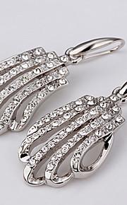 Kvadratisk Zirconium Dråbeøreringe Smykker Dame Daglig Afslappet Zirkonium Platin Belagt 1 par Sølv