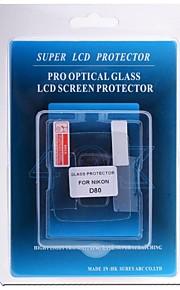 professionel LCD-skærm protektor optisk glas særligt for Nikon D80 DSLR-kamera