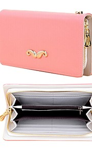 elonbo vackra skägg stil läder plånbok hela kroppen täcker för iphone 4 / 4g / 4s / 5 / 5s / 5c / 6 (blandade färger)