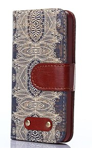 Decorative Design Pattern Oxhide Character Retro PU Leather Case for iPhone4/4S
