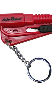 AirOne 3-in-1 Car Safety Hammer Auto Keychain Belt Car Knife Emergency Rescue Tool