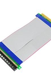 PCI-E udtrykke 16x til 16x mandlige og kvindelige riser extender kort fladkabel 20cm