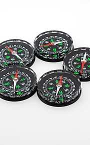 Outdoors Portable Plastic Black Fluid-filled Compass 5pcs
