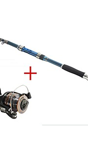 Telespin Rod / Fishing Rod + Reel / Fishing Rod Telespin Rod Carbon 237 M Sea Fishing Rod & Reel Combos Dark Blue