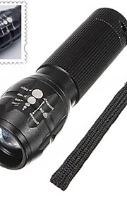 Lights LED Flashlights/Torch / Handheld Flashlights/Torch LED 500 Lumens 3 Mode AAA Adjustable Focus / Waterproof / Nonslip grip