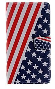 용 HTC케이스 카드 홀더 / 지갑 / 스탠드 / 플립 케이스 풀 바디 케이스 국기 하드 인조 가죽 HTC