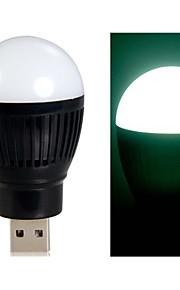 bold pære formet super lyse powered usb mini førte natlys (sort)