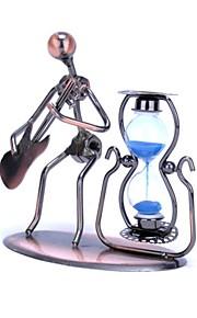 fanjiushi ® metal timeglas hus indretning kontor desk dekorationer kunst sand farve tilfældige