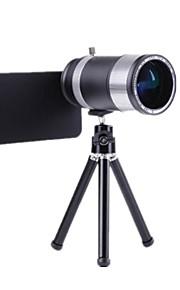 14x Zoom Aluminum Telephoto Telescope SLR Camera Phone Lens for iPhone 5/5S/5G/4S/4