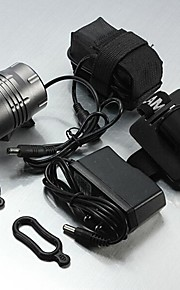 Hovedlygter LED 3 Tilstand 5200 Lumens Vanntett / Genopladelig Cree XM-L T6 16400Camping/Vandring/Grotte Udforskning / Dagligdags Brug /
