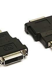 0,1 0.328ft HDMI hane till DVI hona guldplatta hd dator tv anslutningsadapter