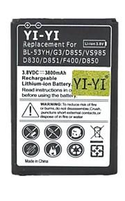 yi-yi 3.8v 3800mah ™ decodificado batería li-ion para lg g3 / bl-53yh / d855 / vs985 / d830 / D851 / F400 / d850