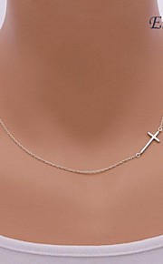 Necklace Pendant Necklaces Jewelry Silver / Sterling Silver / Alloy Party / Daily / Casual / Sports Gold / Silver 1pc Gift