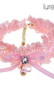 collar de perlas mascota encaje circón
