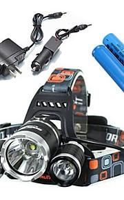 Pandelamper / Cykellys LED 4.0 Tilstand 5000 Lumens Vanntett / Genopladelig / Nedslags Resistent Cree XM-L T6 18650